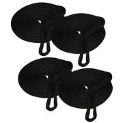 4-pack Of Boat 1/2 In 25ft Double Braid Nylon Dockline Mooring Rope Amarine Made