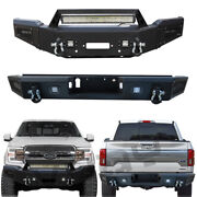Vijay Front And Rear Bumper For 2018-2020 Ford F150 With Winch Plate/sensor Hole