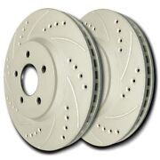 Sp Performance F53-95 Drilled Slotted Brake Rotors Zrc Coating L/r Pr Front