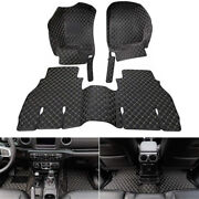 Leather Floor Mats Carpets All-weather Waterproof For Jeep Wrangler Jl 2018+