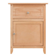 Winsome Eugene Accent Nightstands Table, W/ 2 Drawer Natural Tapered Legs