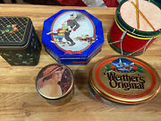 Vintage Decorative Candy And Coke Tins. Lot Of 5