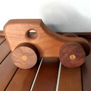 Vintage Wooden Toy Truck With Working Wheels Amish