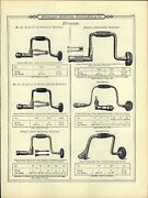 1895 Paper Ad 4 Pg Antique Hand Drill Universal Ratchet Brace Breast Boring Mach