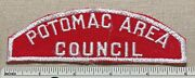 Vtg Potomac Area Council Boy Scout Red And White Strip Patch Rws Bsa Csp Badge