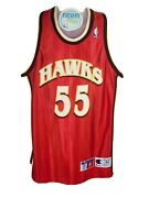 Hawks Champion Jersey Mutombo Young Authentic Flacons Sand Knit Wilkins Sz-l