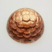 Vintage Penny Paperweight Acrylic Lucite 1976 Lincoln Usa One Cent