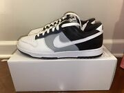 Nike Dunk Low By You Pigeon Grey/black/white Size 12 Brand New Ships Now