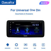 Dasaita Single 1din 10.25and039and039 Android 10 Stereo Car Radio Player Touch Screen Usb