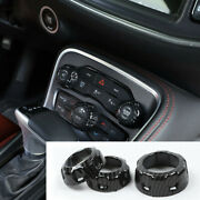 Air Conditioning Switch Panel Trim Cover Accessories For Dodge Challenger 2015+