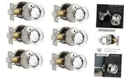Diamond Crystal Privacy Door Knobs In Satin 6 Pack Privacy Knobbed/bath