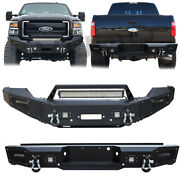 Front And Rear Bumper For 2011-2016 Ford F250 F350 F450 F550excluding Raptor