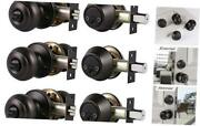 Entry Door Knob Lock Set And Double Cylinder Deadbolt 3 Oil-rubbed Bronze