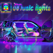 Led Car Interior Atmosphere Neon Lights Strip Music Control + Remote