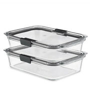 Rubbermaid Brilliance Glass Food Storage Containers, 8-cup Food Containers With