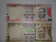 -india Paper Money- 2 'm.gandhi' Demonetized Notes - Rs.1000/- And 500/- E20i
