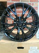 19 And 20 Gloss Black Wheels - Fits Corvette C7 Z06 Style Z51 Staggered Chevy