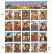 Us Stamp - 1994 Recalled Legends Of The West - 20 Stamp Sheet 2870