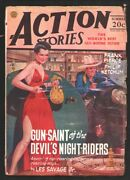 Action Stories-summer 1946-george Gross Spicy Gun Moll Cover-les Savage Jr-ph...