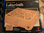 Vintage Labyrinth Wooden Puzzle Maze Game Wood Tilt Skill By Cardinal