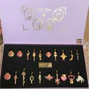 Sailor Moon Pins And Charms Full Moon Set New From Japan Free Shipping
