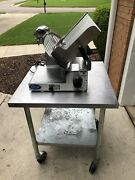 Globe 3600 Pro Slicer With Stainless Table With Castersgreat Working Condition