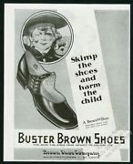 1929 Buster Brown Shoes Tige Pit Bull Art Vintage Print Ad