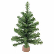 Northlight 18 Mini Canadian Pine Artificial Christmas Tree In Faux Wood Base
