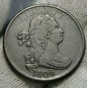 1806 Draped Bust Half Cent - Nice Coin, Free Shipping 379
