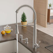 Alfi Brand Commercial Spring Kitchen Faucet With Pull Down Shower Spray Ab2039s