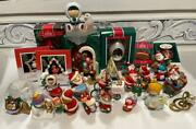 Lot 28 Vintage Hallmark Christmas Ornaments 1980-2000 Some Boxed Frosty Cardinal