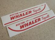 Boston Whaler Squall Vintage Boat Decals 2-pak 13 Free Ship + Free Fish Decal