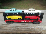 1956-1957 Lionel Evans Auto-loader 6414 4 Cars Red-yellow-white-sea Foam Green