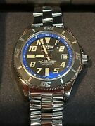 Breitling Superocean 42 Black Blue Dial Automatic Menand039s Watch