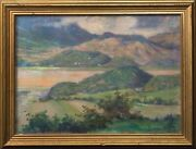 Large 19th Century Welsh Valley Summer Landscape By Robert Fowler 1853-1926