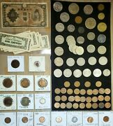 Coin Lot 1859-2006 Silver And Clad 87-coin Collection Unc/circ Canada Mexico Fr It