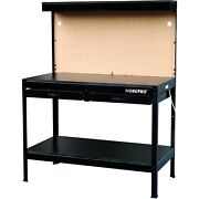 Workbench Table Workpro Multi Purpose With Work Led Light Tool Garage New