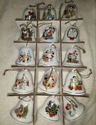 Set Of 29 Grolier Disney Characters Christmas Bell Ornaments 2 Porcelain