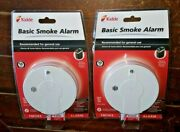 2 X Kidde Basic Smoke Alarms For General Use -battery Operated- Model I9050