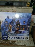 2017 Springbok 1500 Piece Jigsaw Puzzle Home For Christmas - New Factory Sealed