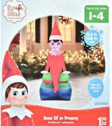 Holiday Time 5.5 Elf On Shelf Inflatable By Gemmy Industries Nib