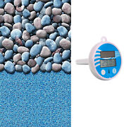 15'x30' Oval Pebbles Above Ground Overlap Swimming Pool Liner + Therm 1-day Ship