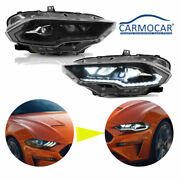 Full Led Dynamic Drl/turn Amber Side Reflector For Ford Mustang 2018-2020