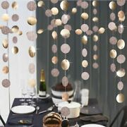 4m Star Round Christmas Garland Pendant New Year Decor Ornaments Decorations