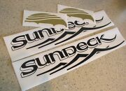 Sea Ray Sundeck Replacement Decals Die-cut 2-pak Free Ship + Free Fish Decal