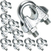 10 X 6mm Galvanised Steel Grip Clamp/clips Andndash Wire Rope Lashing Cable U Bolt Nut