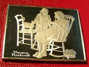 Norman Rockwell Fondest Memories-the Knitting Lesson 3 Troy Oz.925 Fine Silver