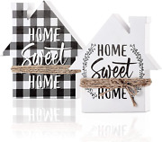 Jetec Double-sided Home Sweet Home Decor Wooden Home Signs With Saying Black And