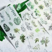 3 Sheets Hand Painted Stickers Pack Cartoon Flowers Leaves Diy Diary Cute Decor