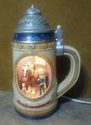 Rare 1998 Budweiser Beer Lighted Stable Stein...wow